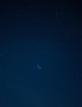 Neptunus Nikon D5100, 50mm/f1.8, ISO6400, pinottu 4 x 1,6s ruutua.