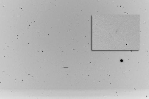C/2012 S1 (ISON) -komeetta Nikon D5100, 300mm/f5.6, ISO3200, 164x1,6s Pinottu Maximum-menetelmällä.