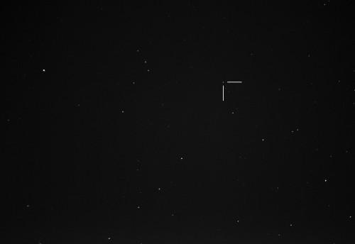 Ceres-kääpiöplaneetta Nikon D5100, 300mm/f5.6, ISO3200, pinottu 32x1,3s