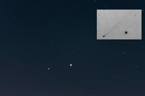 C/2012 S1 (ISON) -komeetta  Nikon D5100, 300mm/f5.6, ISO3200, pinottu 48x1,3s