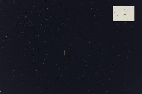 Asteroidi (64) Angelina ja avoinainen tähtijoukko NGC 1746 Nikon D5100, 200mm/f2.8, ISO3200, pinottu 40 x 1,6s ruutua