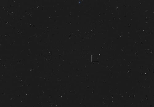 Asteroidi (704) Interamnia Nikon D5100, 200mm/f2.8, ISO3200, pinottu 28 x 1,3s