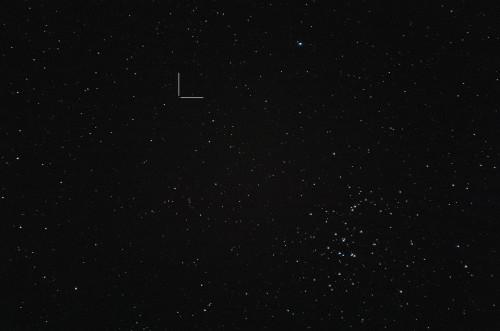 Asteroidi (129) Antigone ja M44 Nikon D5100, 200mm/f2.8, ISO3200, pinottu 32 x 1,3s