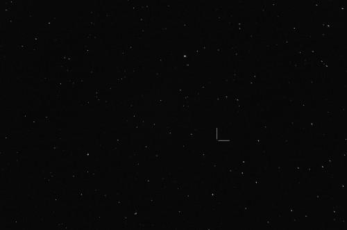 Asteroidi (60) Echo Nikon D5100, 200mm/f2.8, ISO6400, pinottu 31 x 1,3s