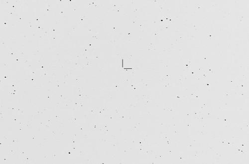 Kohta jossa pitäisi olla asteroidi (1656) Suomi Nikon D5100, 200mm/f2.8, ISO3200, pinottu 185 x 1,3s