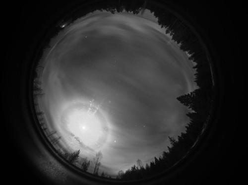 Kuun 9 asteen rengas (Van Buijsen) ja 22 asteen rengas Kuva: Jari Juutilainen / Taurus Hill Observatory