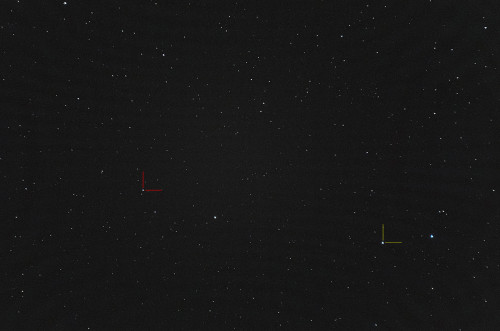 Puinainen: (1) Ceres Keltainen: (4) Vesta