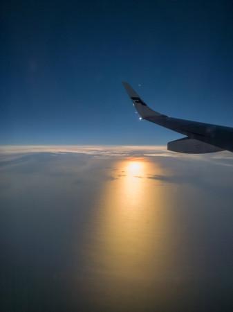 Finnair tarjosi auringonpeittolevyn
