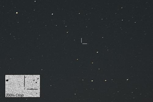 Kääpiöplaneetta Pluto Nikon D7100, 200mm/f2.8, ISO1600, pinottu 70 x 1,3s