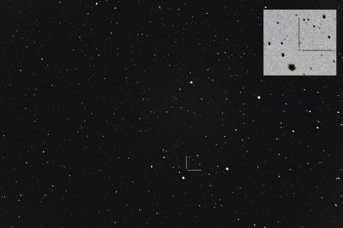 Asteroidi (156) Xanthippe Nikon D7100, 200mm/f2.8, ISO1600, pinottu 74 x 1,3