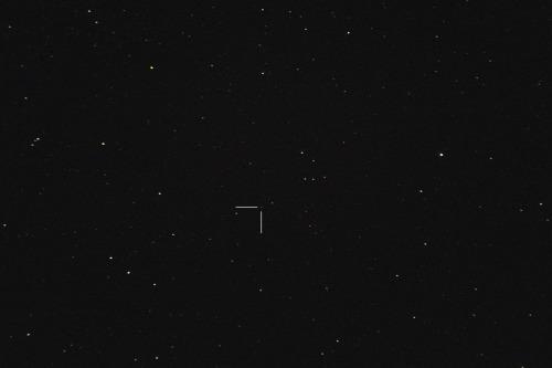 Asteroidi (30) Urania Nikon D7100, 200mm/f2.8, ISO1600, pinottu 47 x 1,3s