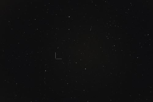 Asteroidi (63) Ausonia Nikon D7100, 200mm/f2.8, ISO1600, pinottu 58 x 1,3