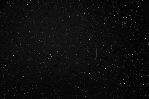 Asteroidi (10) Hygiea Nikon D7100, 200mm/f2.8, ISO1600, pinottu 62 x 1,3s