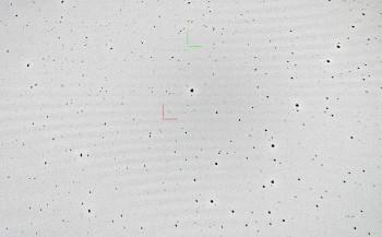 Asteroidit: Punainen: (5) Astraea Vihreä: (70) Panopaea
