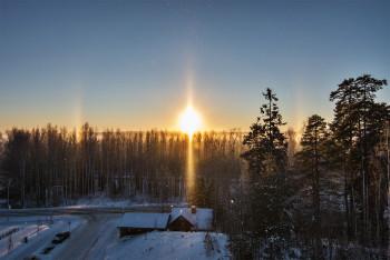 22 asteen rengas, auringon pilari, sivuauringot, ala-aurinko, Moilasen kaari, ylempi-Lowitzin kaari