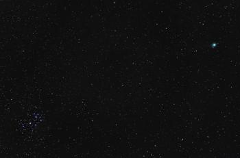 Komeetta C/2014 Q2 (Lovejoy) ja Seulaset 85mm/f2.8, ISO1600, 52 x 4s