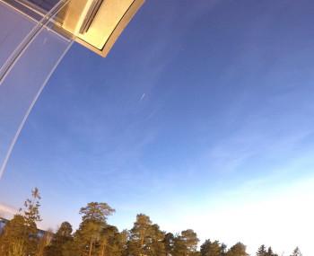 Iridium 62 -satelliitin välähdys 18:00 -5,1 mag