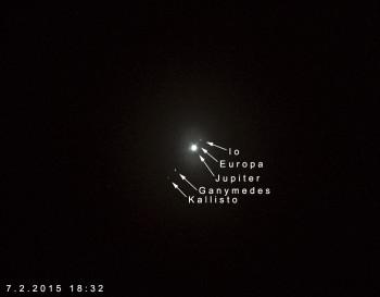 Jupiter ja kirkkaimmat kuut