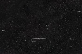 Kassiopeia ja C/2014 Q2 (Lovejoy)